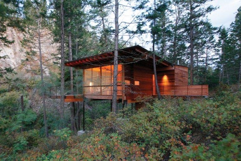 Inspiring Modern Mountain Houses Flathead Lake Cabin Design Modern Cabin