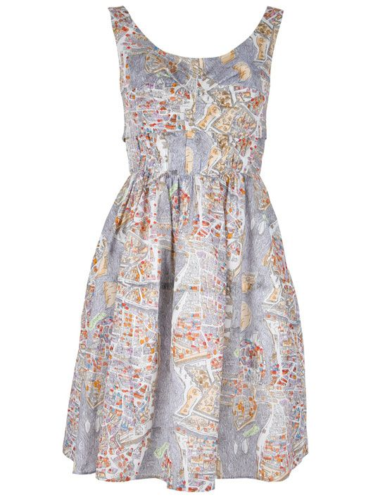 Carven Map Dres Dress Of The Day Paris Print Cotton Fashion Police
