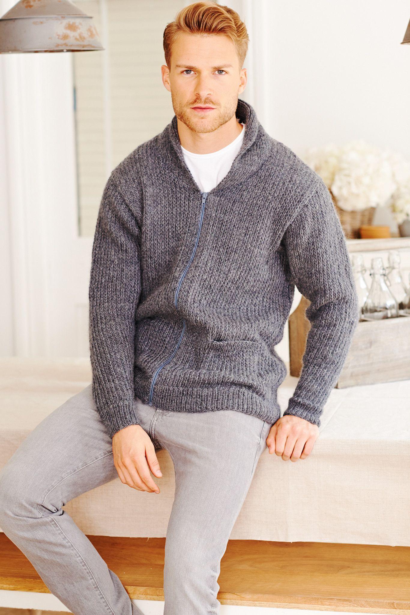 Vintage knitted men\'s zip jacket | Knitting Design Inspiration ...