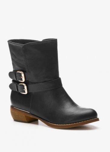 Vices Botki Z Klamrami Ethro Black Boots Biker Boot Shoes