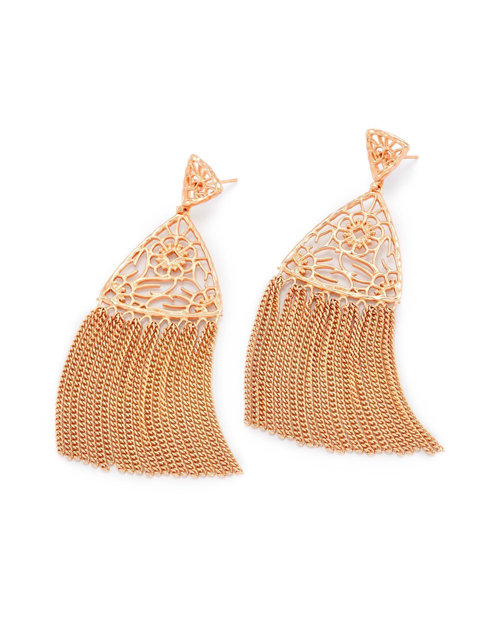 1660d72f5 Sale | Kendra Scott Ana Statement Earrings in Rose Gold | KENDRA ...