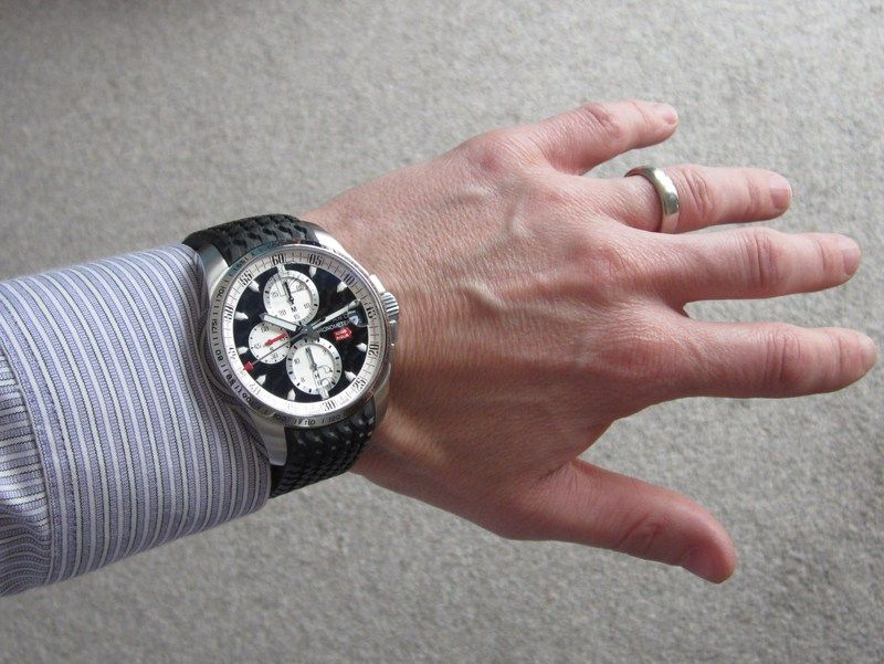 On the wrist 2 -  #Chopard Mille Miglia Chronograph Review http://bit.ly/1SQ42Zb