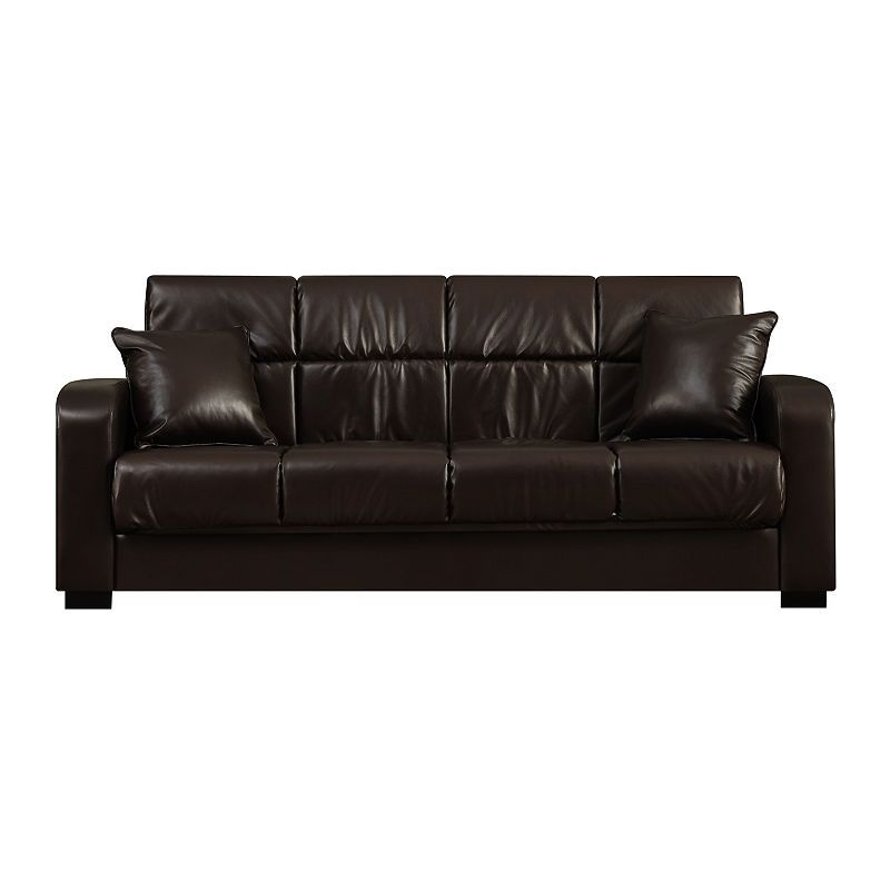 Sammy Track Arm Faux Leather Convert A Couch In 2019