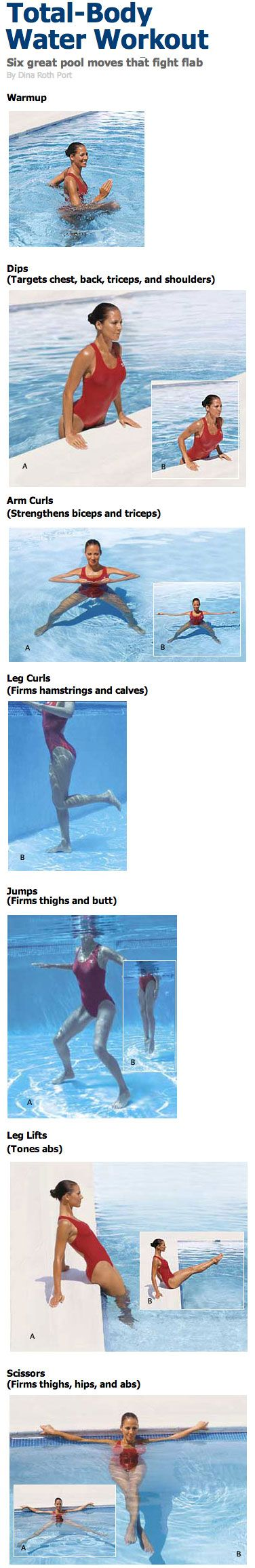 Full Body Workout For Beginners Video Collection Body Workouts Workout And Pool Exercises