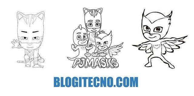 Dibujos de PJ Masks: Imágenes de Héroes en Pijamas para Imprimir y ...