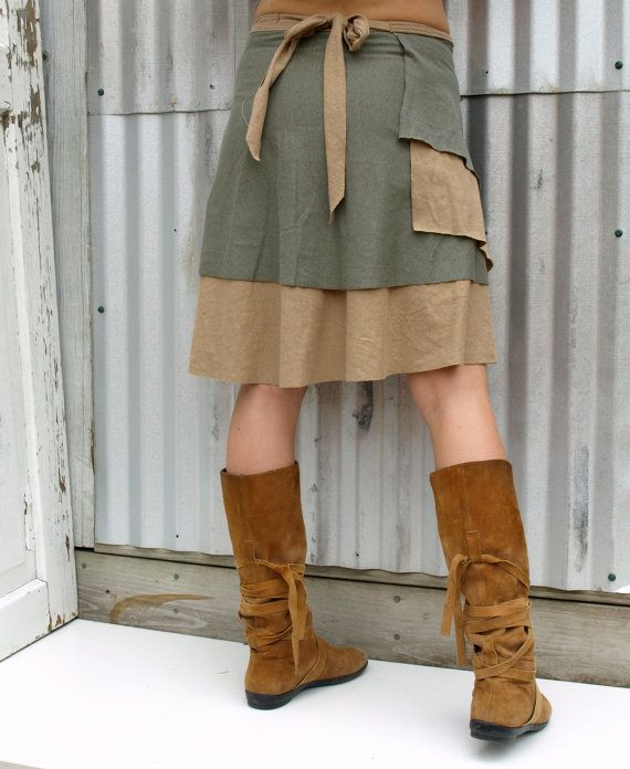 Olinda Layered Wrap Skirt Hemp & Organic Cotton Made by yanadee