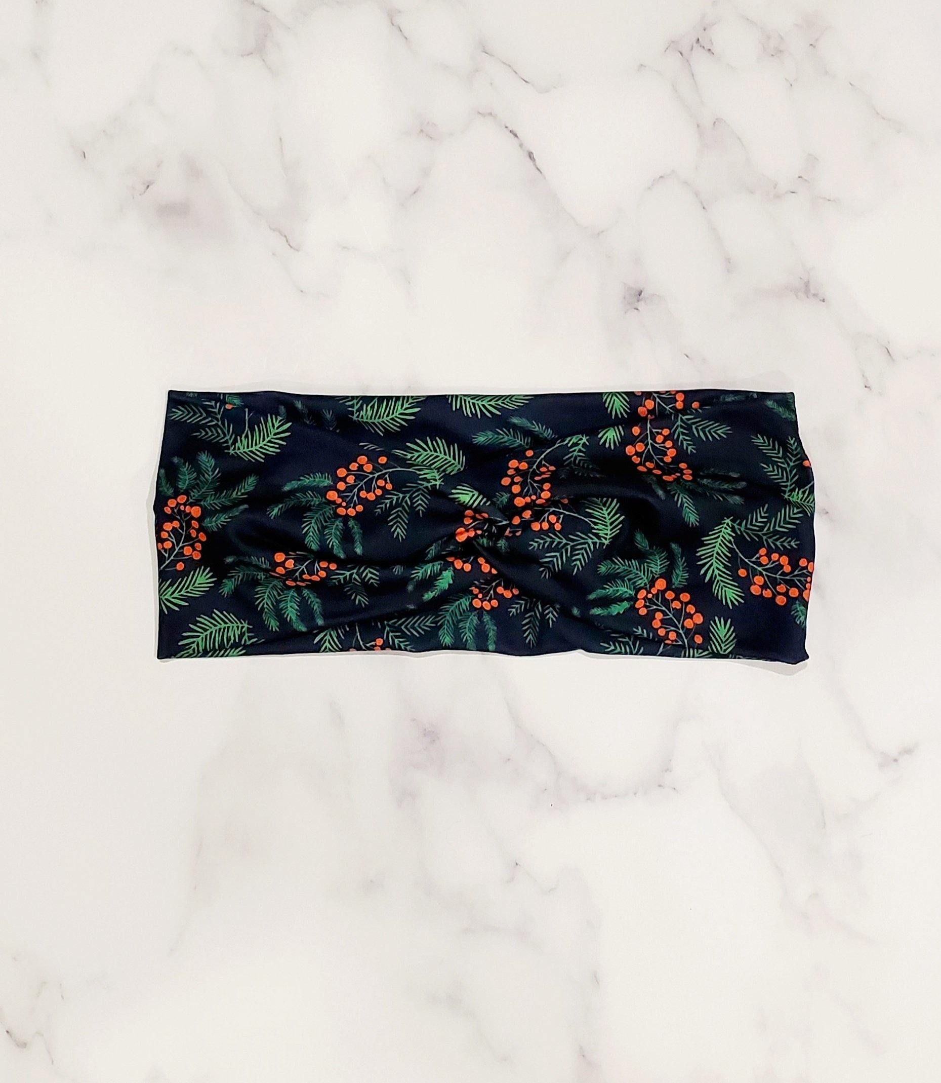 Holly Berries Twisted – Women's Headband