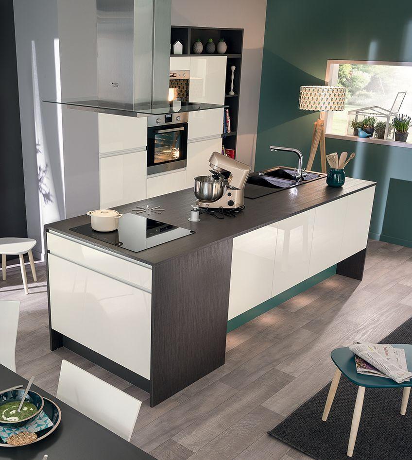 virtuose plan de travail stratifi int rieurs blancs et. Black Bedroom Furniture Sets. Home Design Ideas