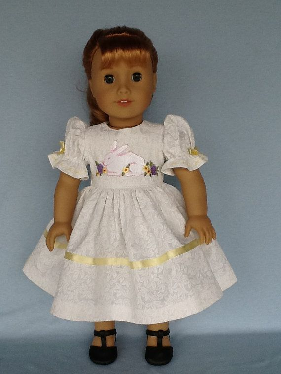 18 inch doll Easter dress. Made to fit dolls like by ASewSewShop