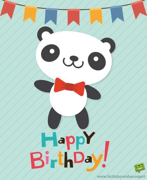 Happy Birthday Wish On Image Of Cute Animal Panda Bday Cards