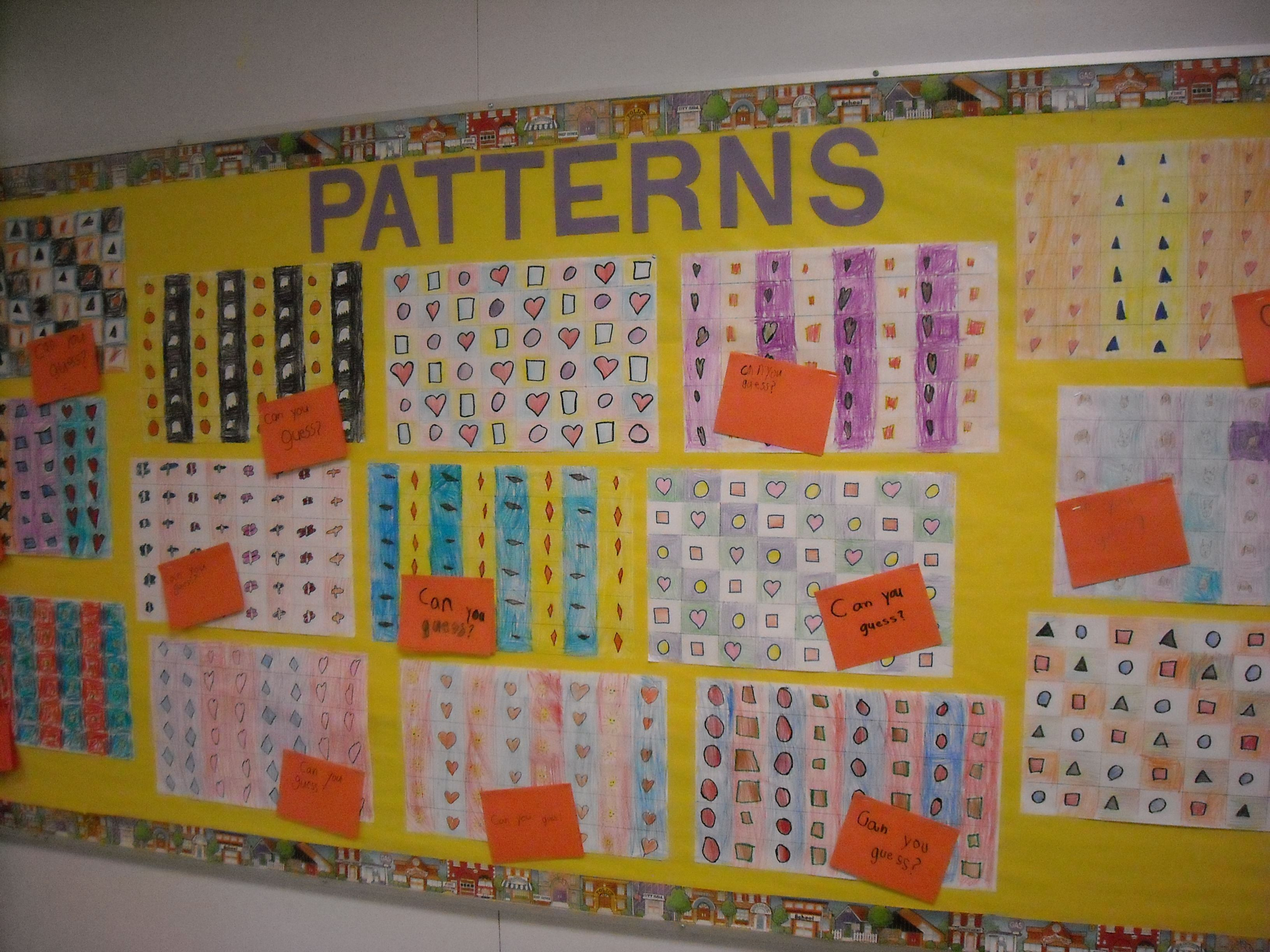 Student created math patterns | Math: Patterns | Pinterest | Math ...