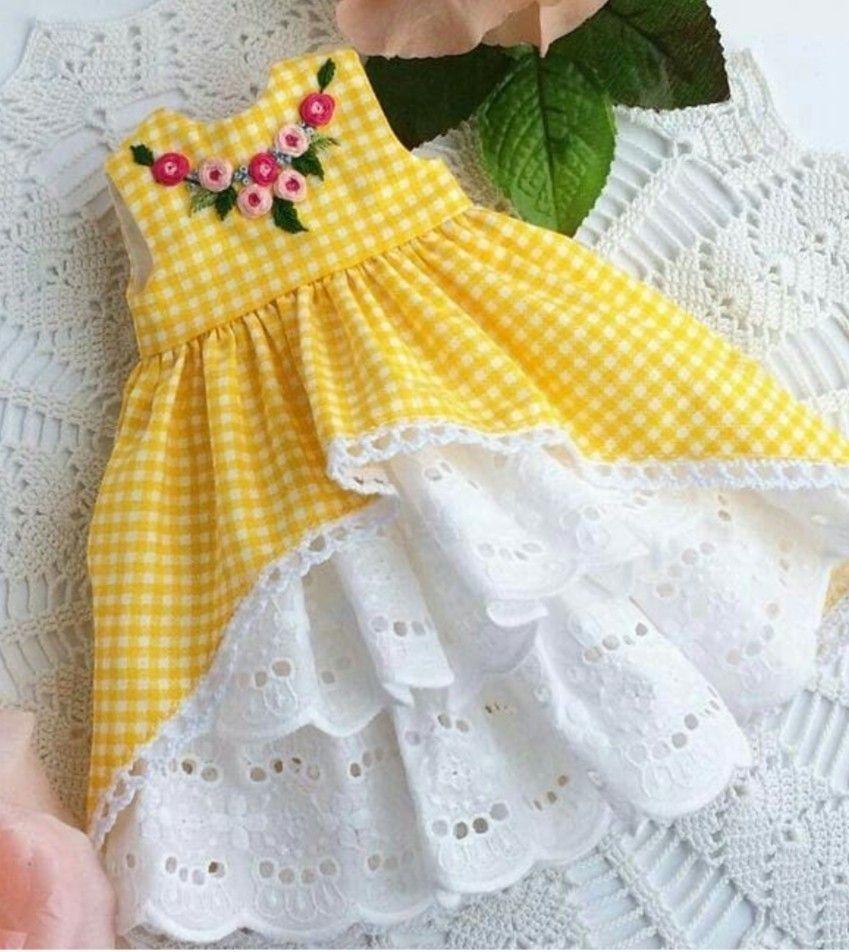 Newborn Girls Spring /& Autumn Dress Collare per Bambole DOT Pattern Design Girls Princess Dress
