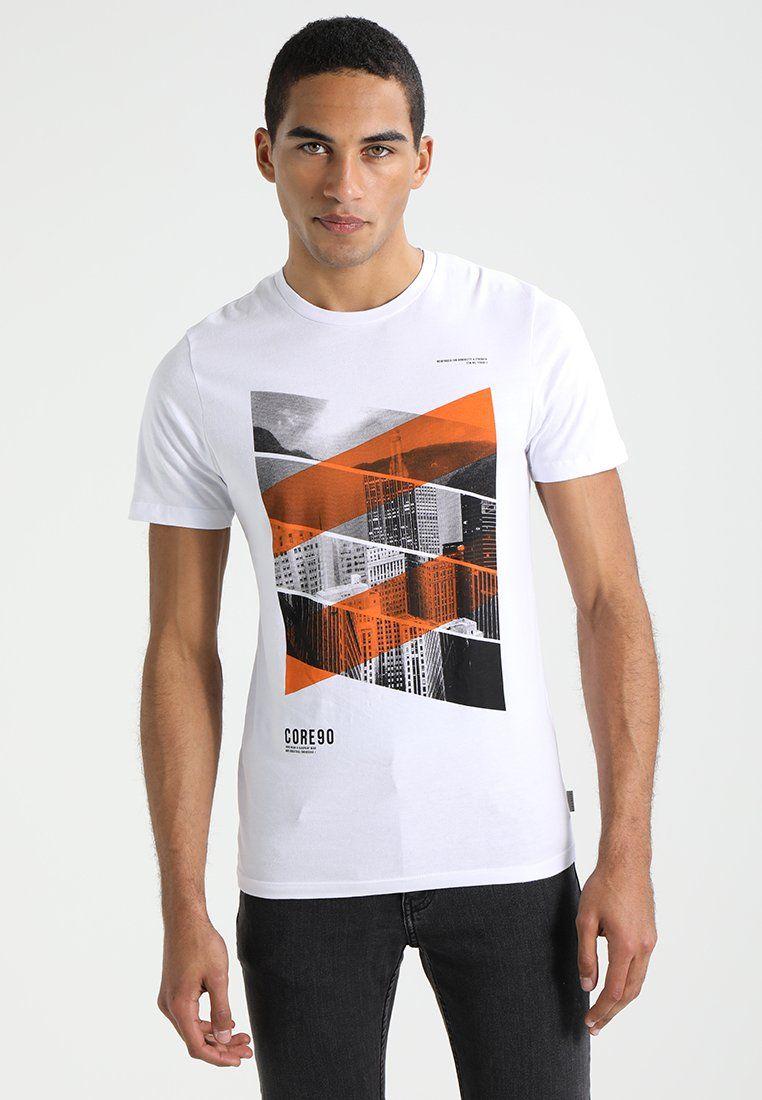 3e1adc854002d Jack   Jones JCOGORIB TEE CREW NECK - Print T-shirt - white - Zalando.co.uk