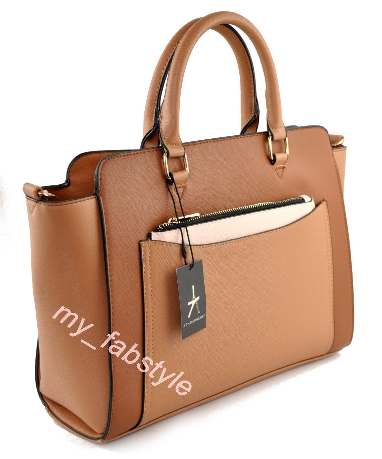 Primark Ladies Women s TOTE HANDBAG Bag atmosphere Tan  6cae68c94b480