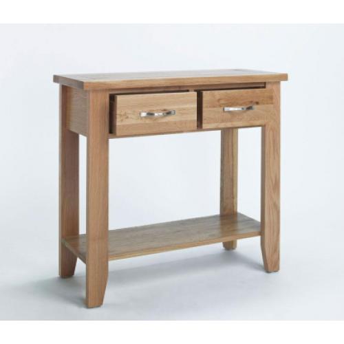 Cambridge Oak Lamp Small Console Table Co2407 Www Easyfurn Co Uk Oak Console Table Small Console Tables Oak Consoles