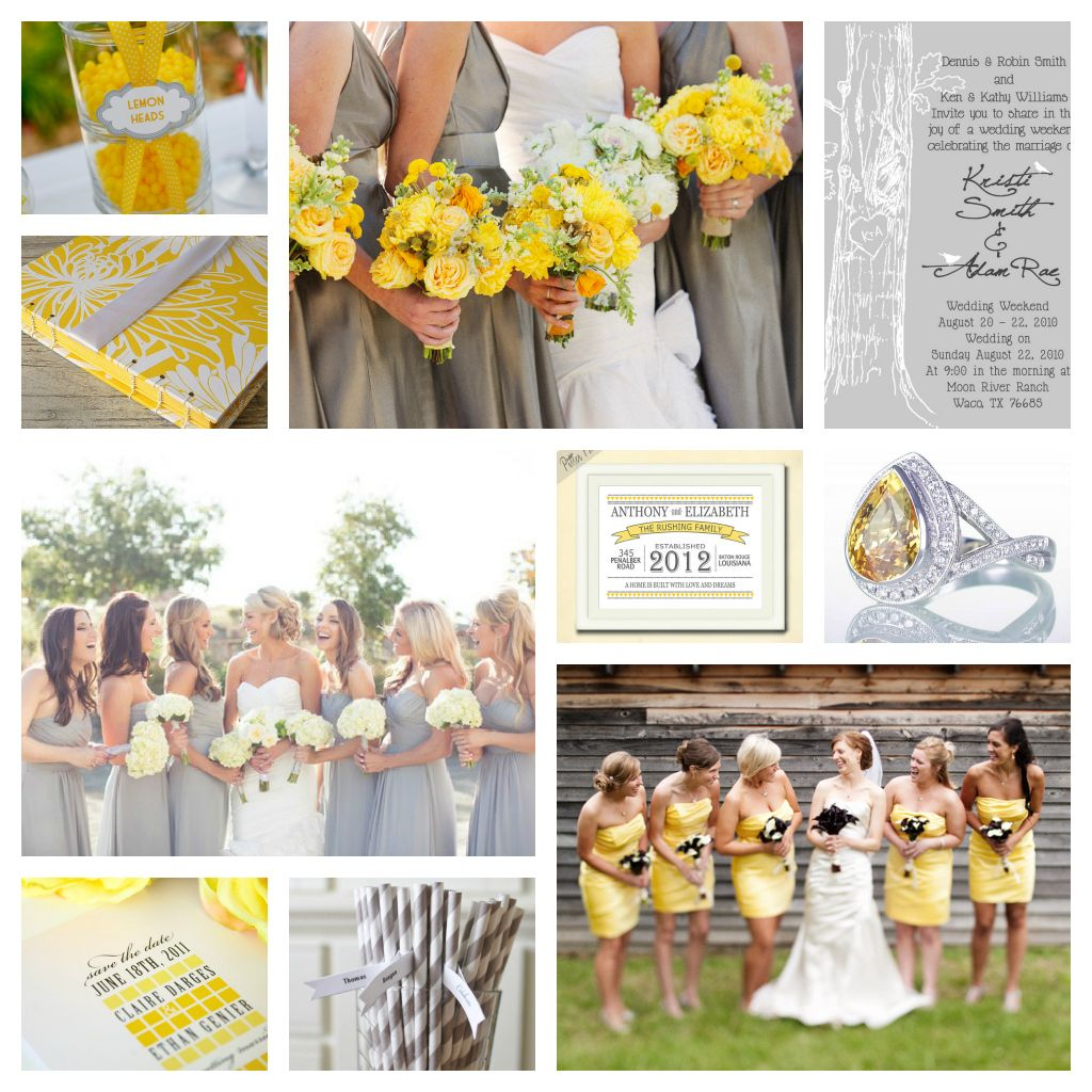 Canary-Yellow-and-Grey-Wedding-Inspiration | Just Keep Dreamin ...