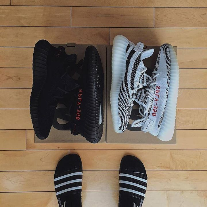 .@jeremydelasalas is shown here deciding on which pair of #yeezyboost350v2 should he wear to make the dopest #snowangels in his front yard with. The #yeezy Black Red or Zebra. He screamed out #cashmeoutsidehowboutdat?! and ran out in his #adidas #slides instead! - Johann