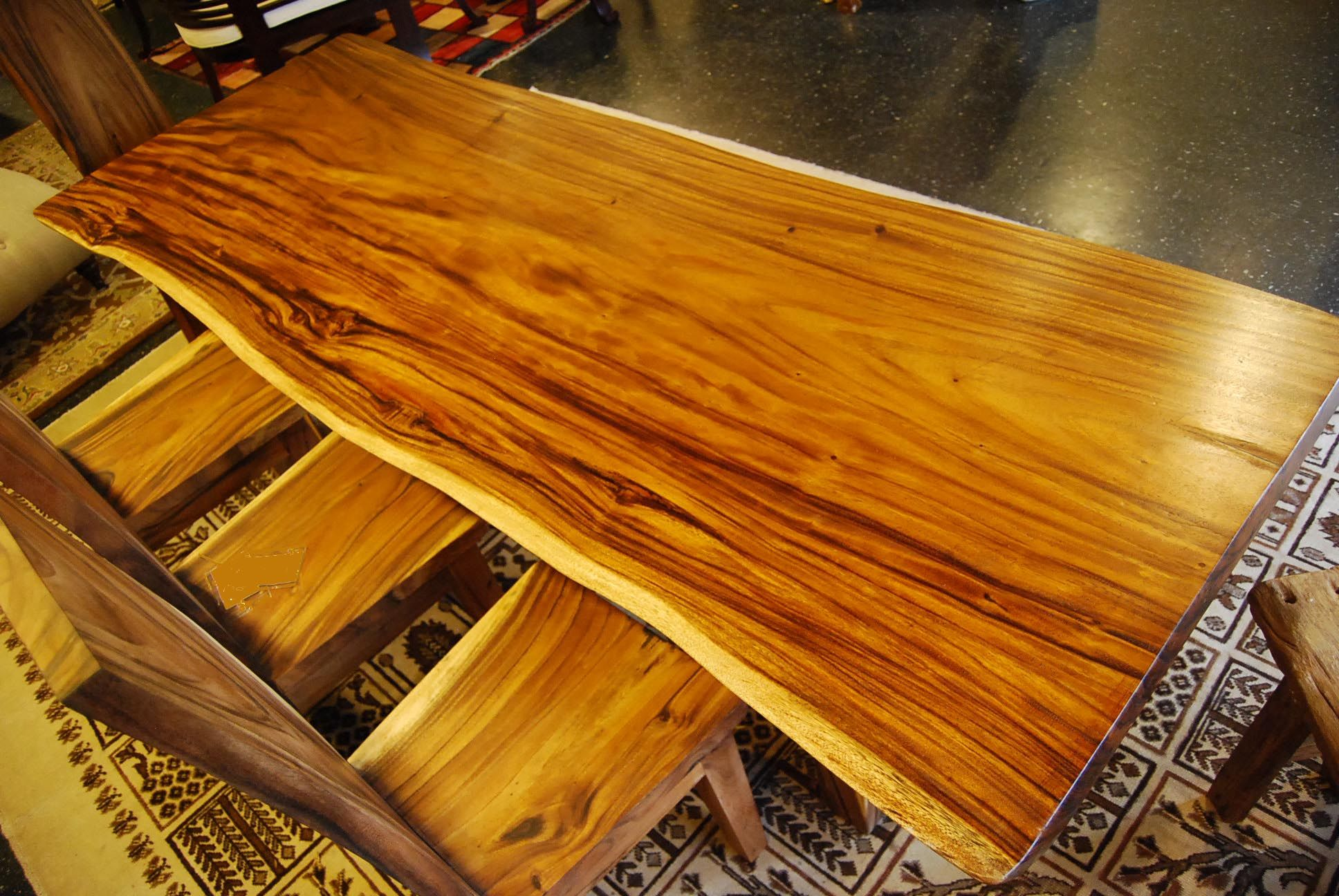 Recycled teak tree trunk dining table offered by r home for Tree trunk dining room table