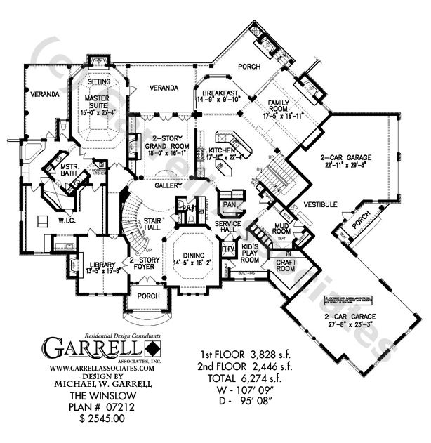 Winslow House Plan 07212 1st Floor Plan Master Down House Plans – Two Story Master Down Floor Plans