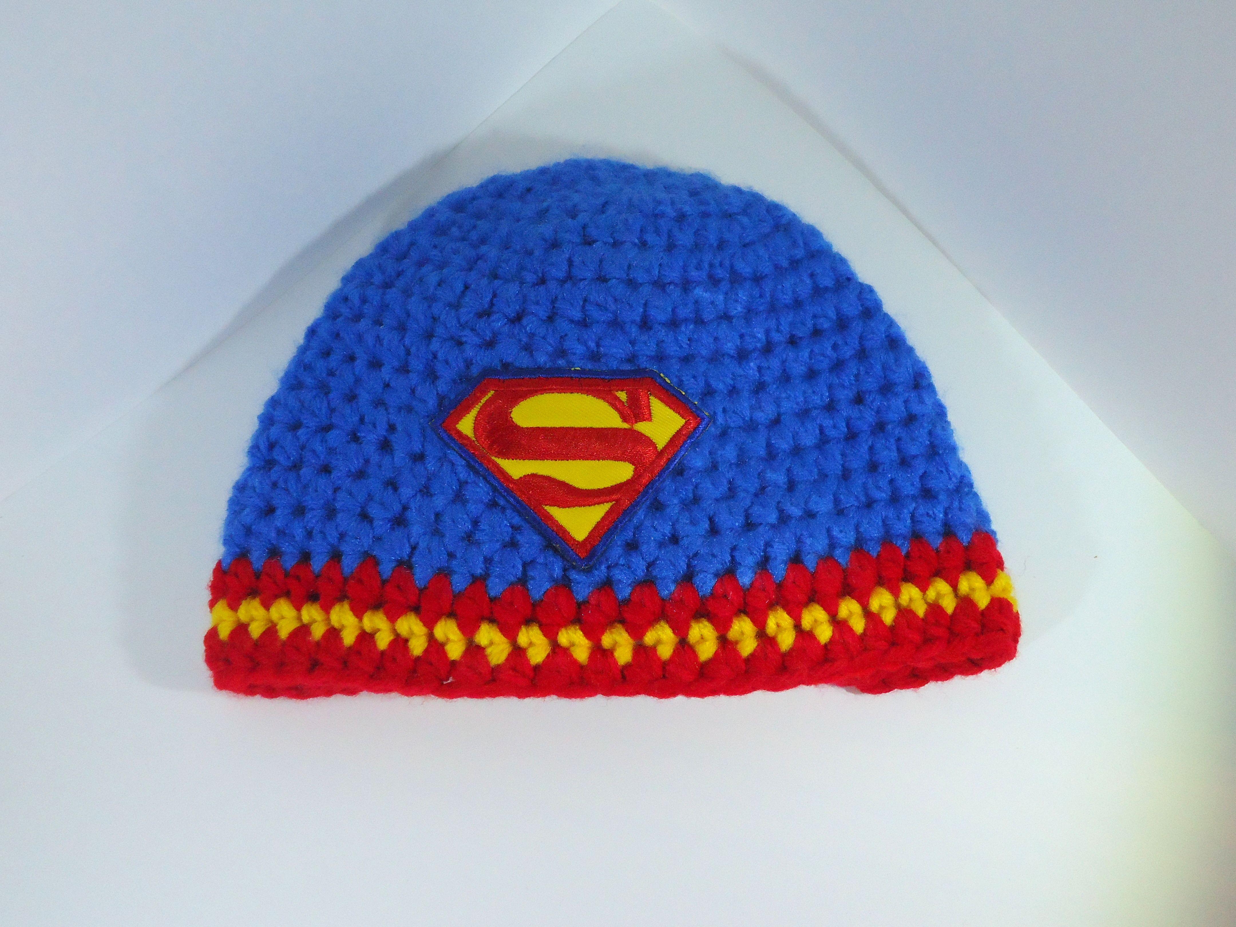 superman knit hat
