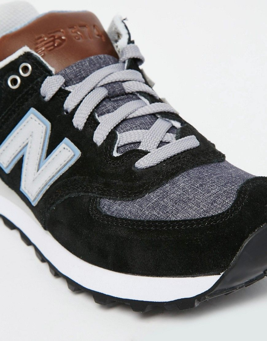 new balance 574 junior black