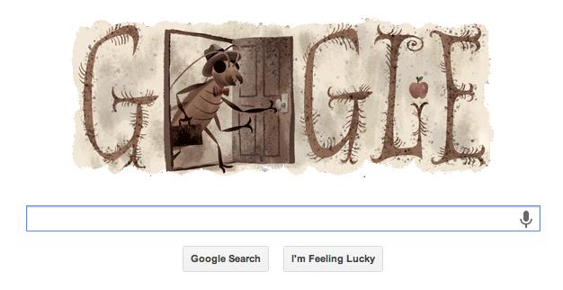 #GoogleDoodle en honor de Franz Kafka...