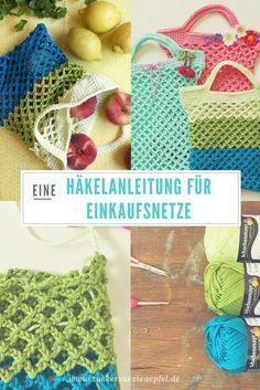 Häkelanleitung Für Ein Einkaufsnetz Crochet Bags Pinterest