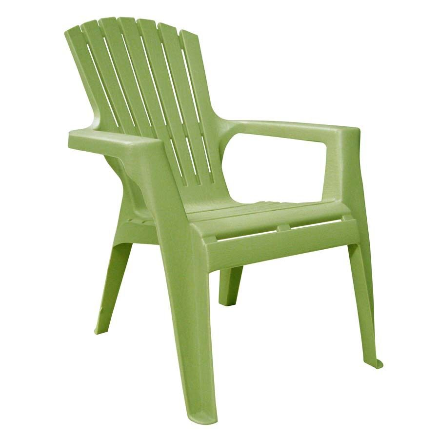 Adams Mfg Corp Green Resin Stackable Patio Adirondack Chair Kids