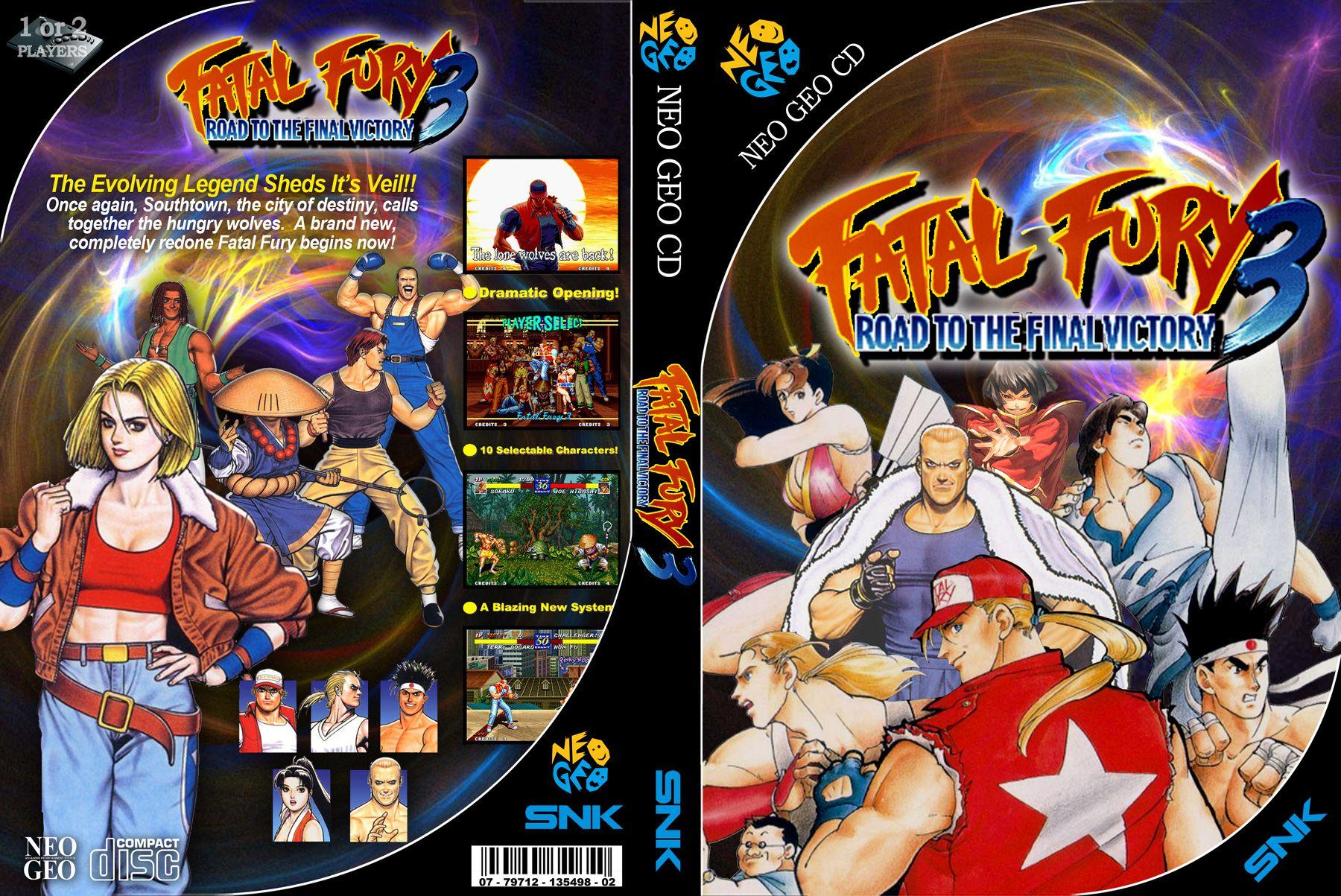 Fatal Fury 3 Custom Cover Video Game Art Neo Geo Game Art