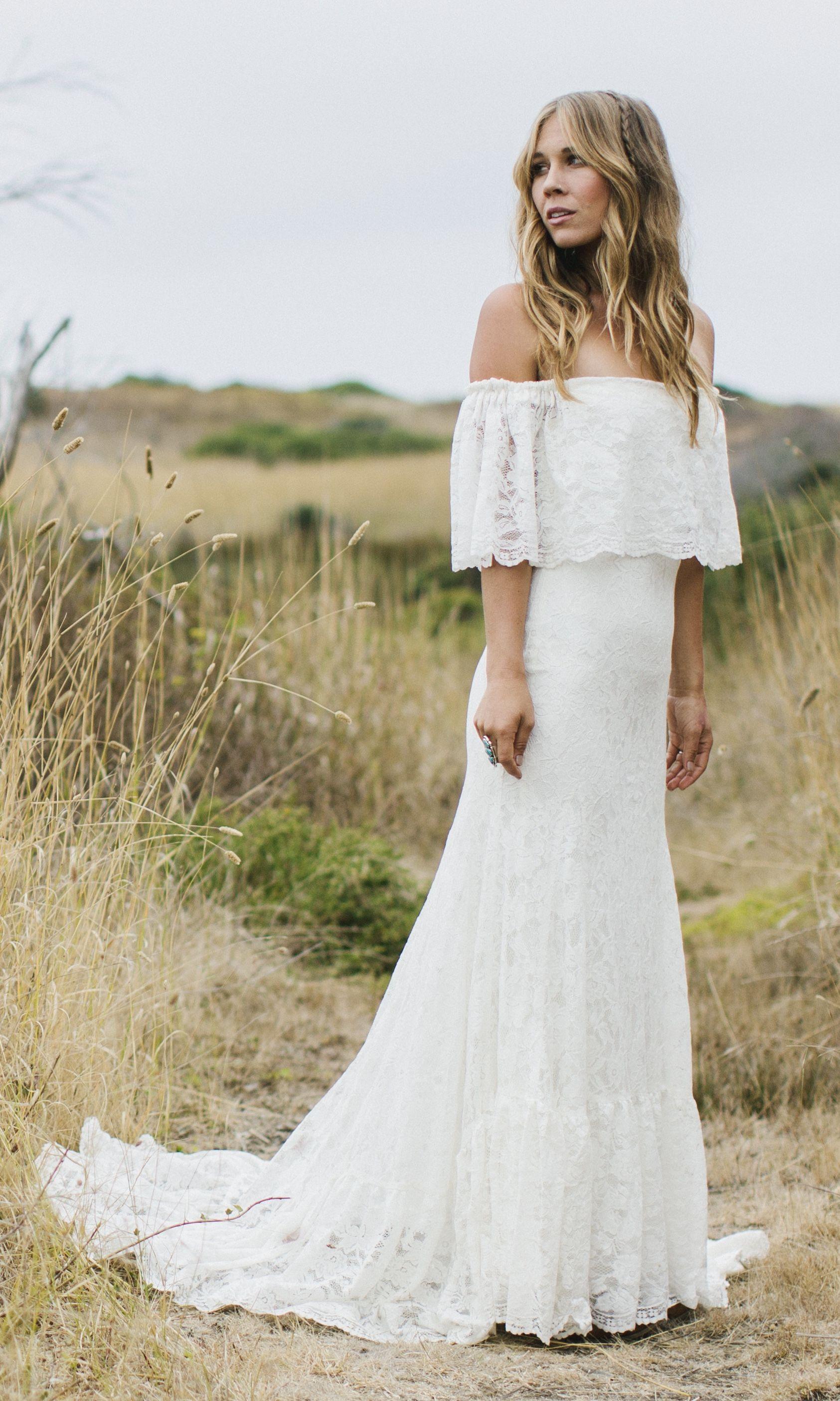 Winnie Bohemian Wedding Dresses Beach Dress Hippie Boho: Hippie Wedding Dresses Off Shoulder At Reisefeber.org