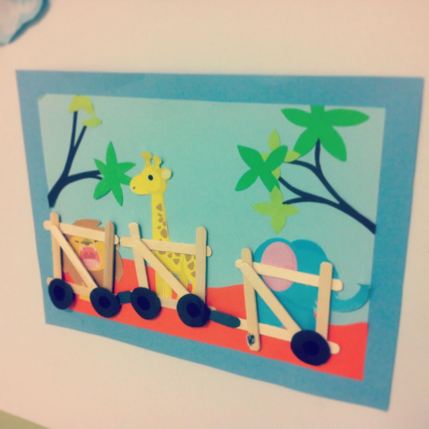Animals train craft - may do paper for the cars instead of the craft ...