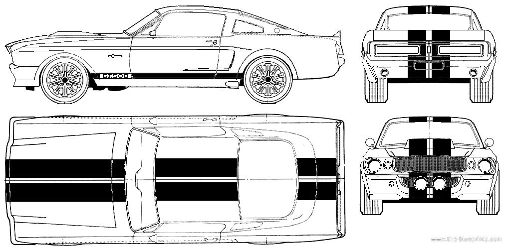 Shelby gt500 eleanor blueprints pinterest dibujos tcnicos resultado de imagen para blueprint mustang cobra malvernweather Image collections