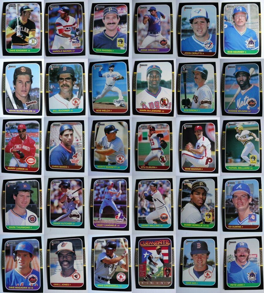 1987 donruss baseball cards complete your set pick from