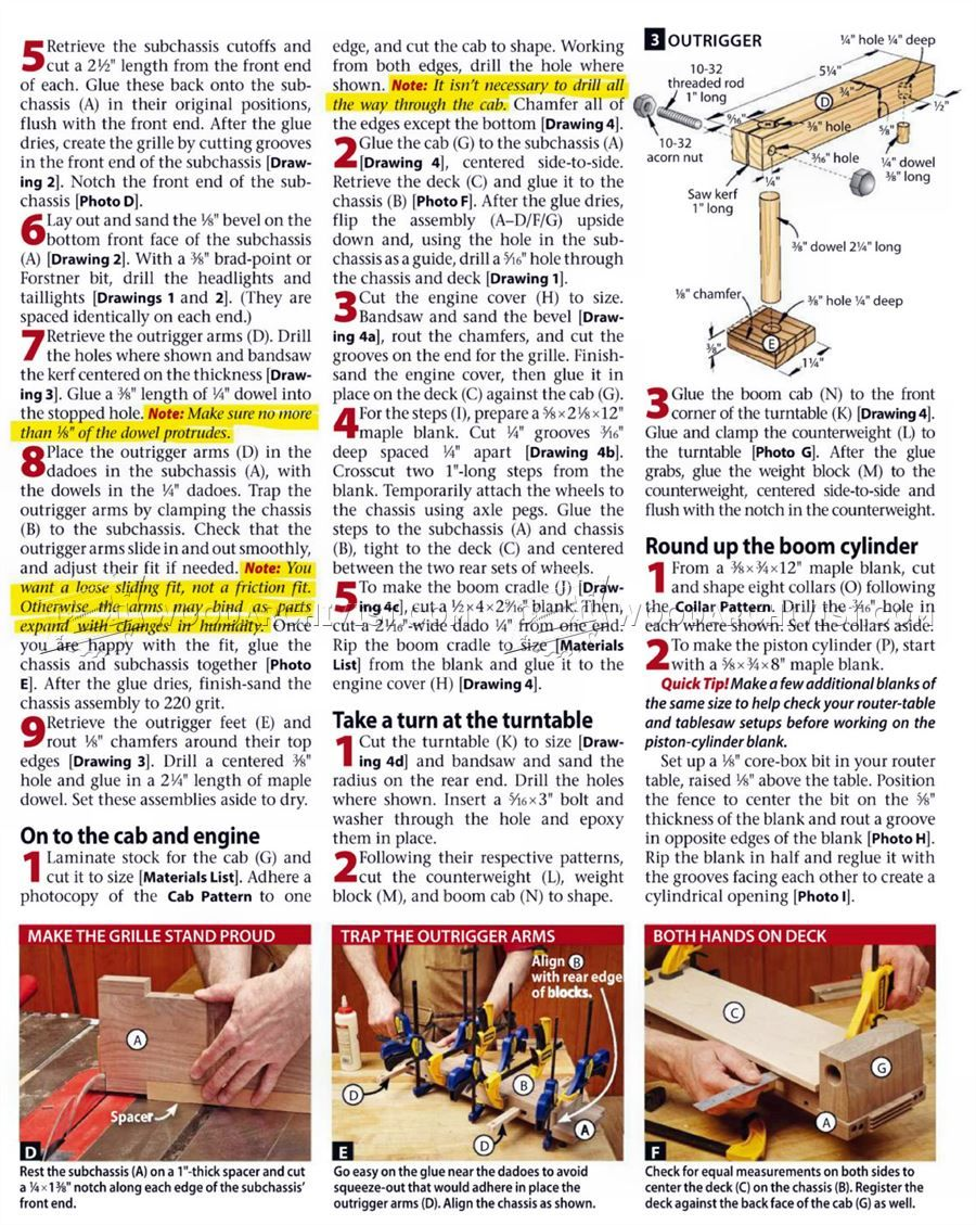 1713 wooden mibile crane - children's wooden toy plans and