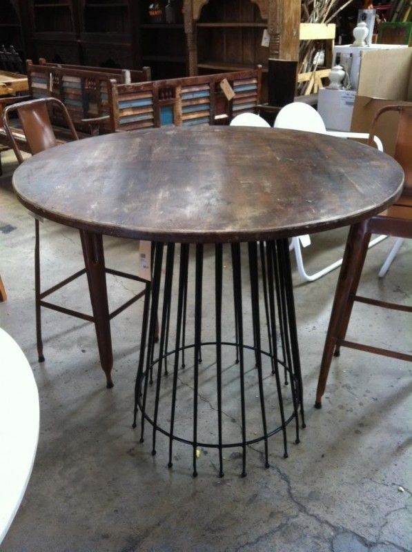 bcfb29c1c10 Round Bar Height Dining Table - Foter