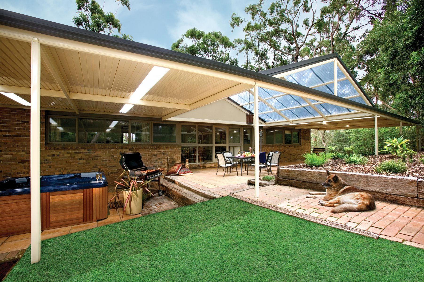 Outback® Gable Stratco Pergola, Pergola designs, Diy patio