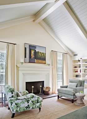 Bright And Symmetrical Bedroom Shiplap Ceiling Home