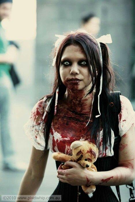 Zombie Girl Costumes Cosplays Maquillaje Halloween Tutorial