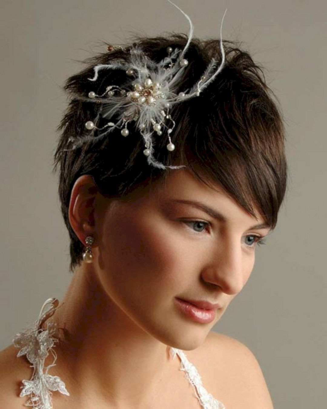 25 incredible wedding hair accessories for short hairstyle