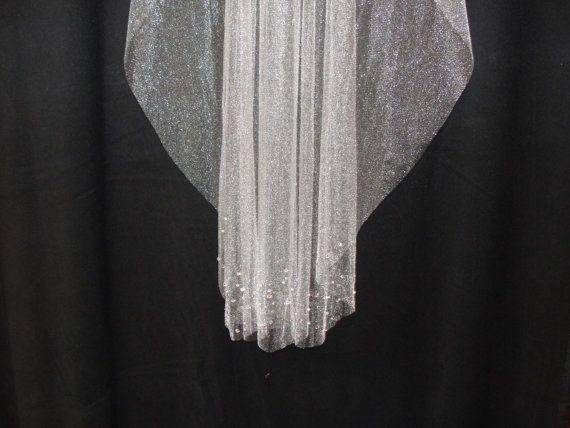 42 Finger Tip  Crystal Veil Swarvoski Crystals by LaceANDLagniappe