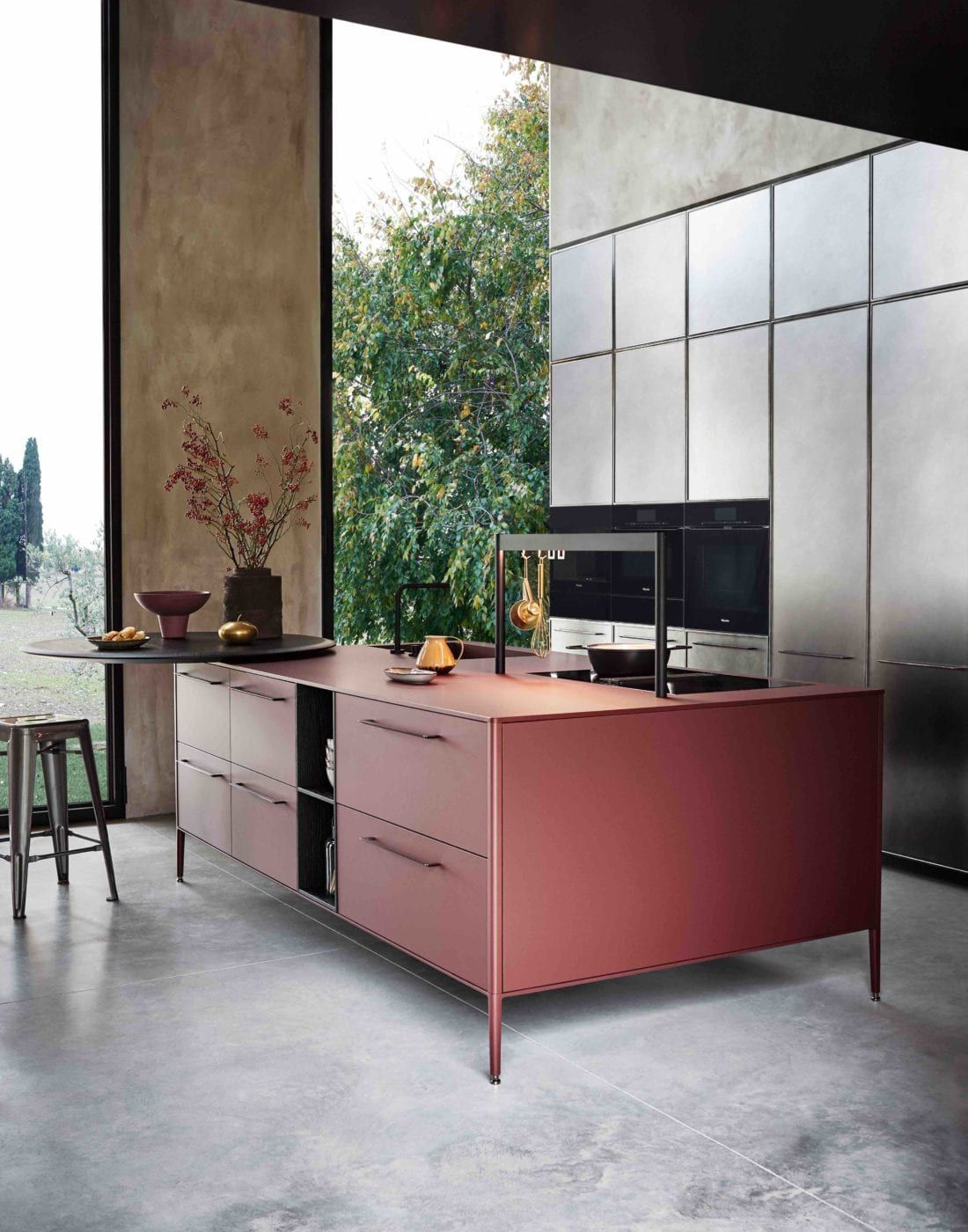 Photo of Red Cesar UNIT Laminate Kitchen | Cesar NYC KItchens | Modern Kitchen