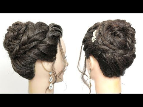 New And Easy Juda Hairstyle For Girls With Long Hair. Simple Updo - YouTube | Long hair updo ...