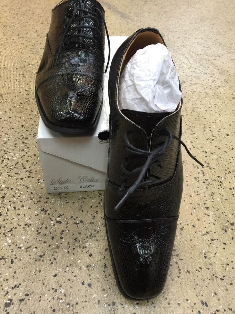Amali New Men's Oxford Dress Shoes Black 2065-000 with Design US Sizes See Photo #Amali #Oxfords