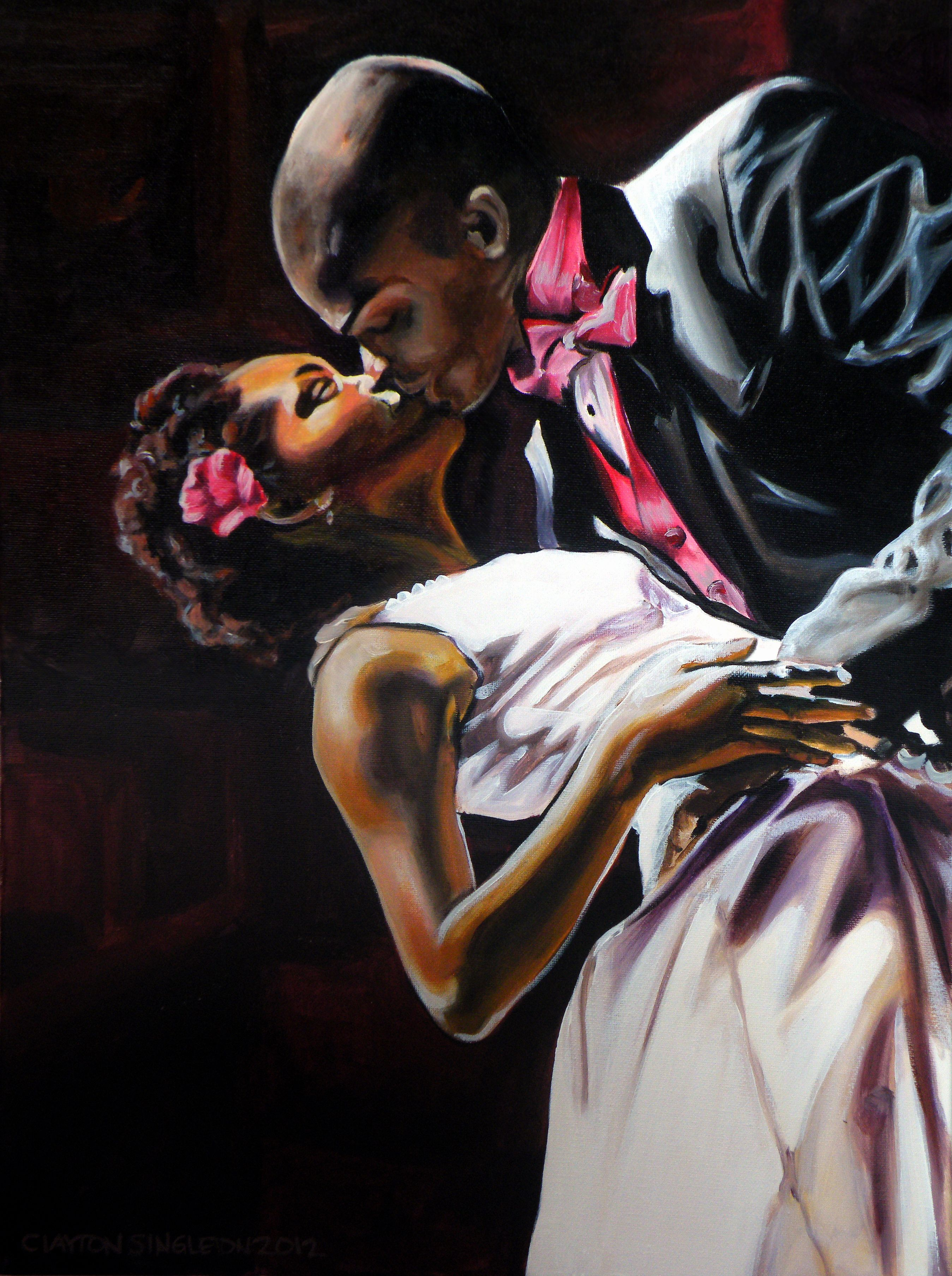 African-american Art Black Couples In Love