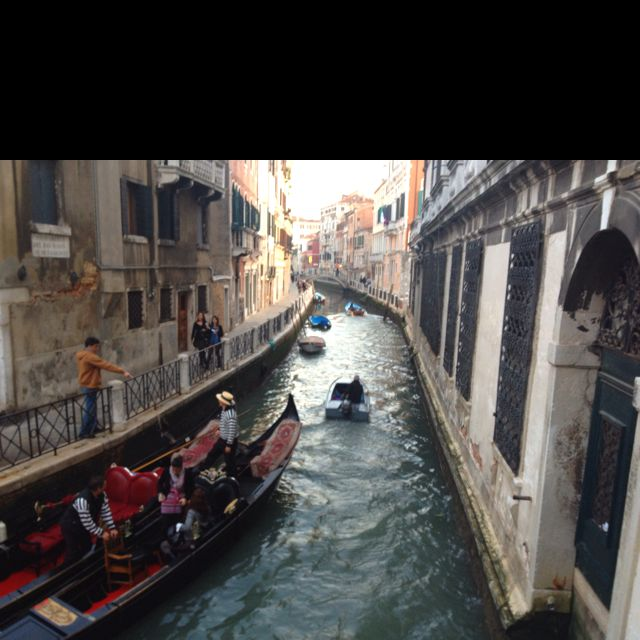 Good Places To Travel November: Venice, Italy. Canal Scene. November 2011.