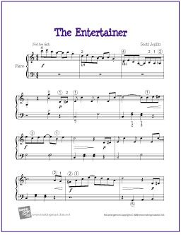 The Entertainer By Scott Joplin Sheet Music For Easy Piano