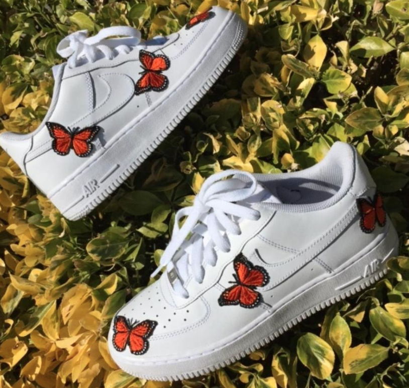 Butterfly AF1 Custom Aesthetic shoes, Custom sneakers, Shoes