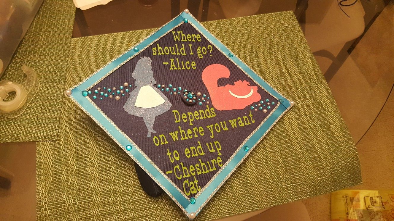 Alice In Wonderland Diy Graduation Cap Diy Graduation Cap Alice