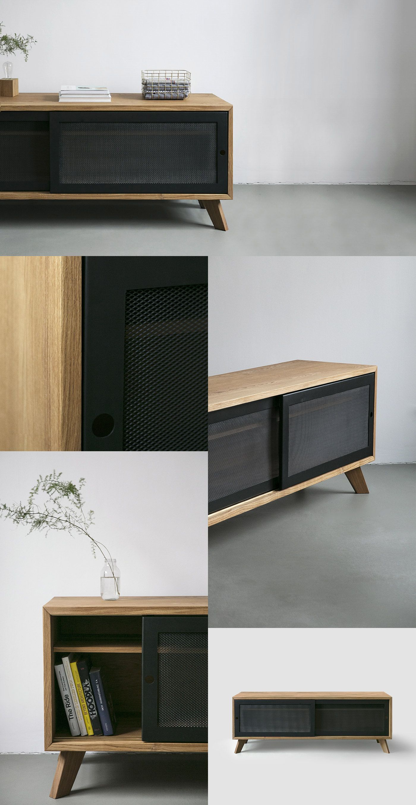 Holzmöbel Wohnzimmer Most Awesome Oak And Stell Mesh Sideboard Things I Like