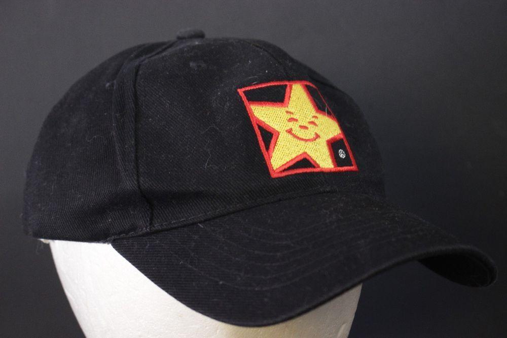 aefbd6d5698 Hardees Employee Work Hat Baseball Cap Black Adjustable Snapback Carls Jr  Star  Hardees  BaseballCap